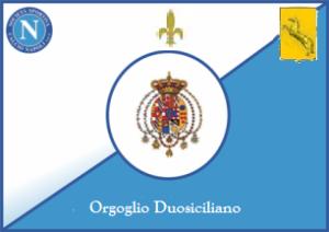 Bandiera del Napoli campione gigliato 2014-15