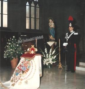 emblema di Francesco II con una strana guardia d'onore...